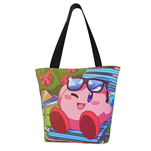 Super Smash Bros Kirdy Women Totes Carry Bags Big Capacity Shoulder Handbags Messenger Backpacks Portable Webbing is Strong and Durable