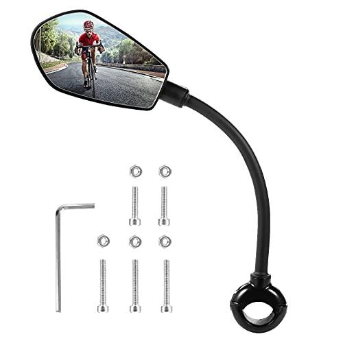 Fahrradspiegel, Awroutdoor Rückspiegel Fahrrad, 360° Drehbar Mini Seitenspiegel, Fahrradschutz Spiegel für Lenker 20-29mm Bike Mirror Robust Fahrradlenker End Spiegel für Mountainbike,Rennräder,E-Bike