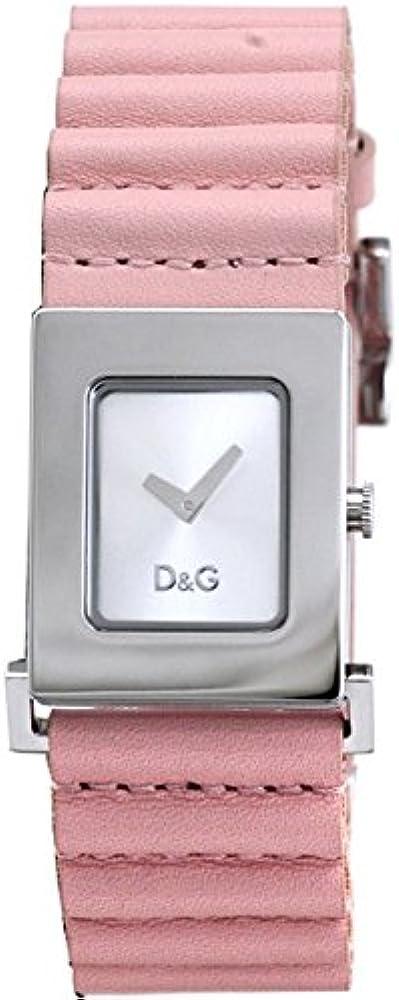 Dolce & gabbana ,orologio per donna,con cassa in acciaio inossidabile e cinturino in vera pelle DW0207
