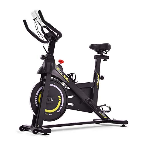 WGYDREAM Bicicleta Estática Spinning Bici Ejercicio Bicicleta De Ciclismo Interior con Resistencia Magnética, Bicicleta De Ejercicios para El Estudio Fijo Cardio Fitness 6 Kg Volante Y Ajustable