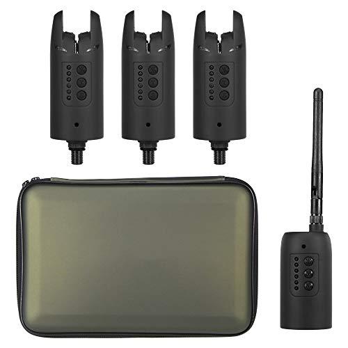 Elikliv Wireless Fishing Bite Alarmas Set Digital Pesca Sonido Alerta Receptor Kit Carpa Pesca LED Indicador Herramienta Set