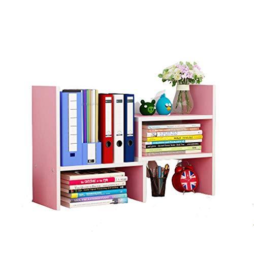 博 デスク上置き棚 自由自在伸縮 小 物 書類 収納 整理 仕切り 本立て オフィス収納 自由に形を変えられる(ピンク)