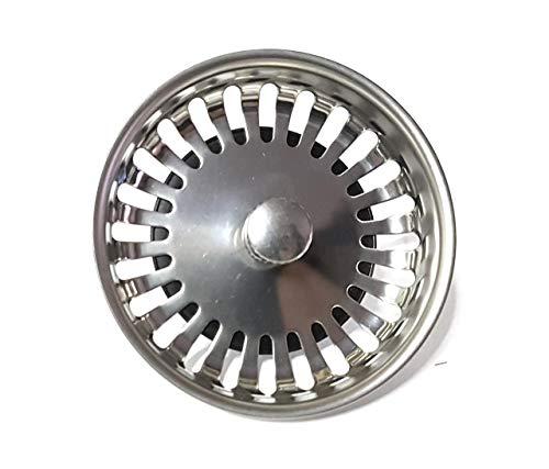 PROKIRA Universal Siebkörbchen Siebkorb 3,5 Zoll (Ø80mm), für Spülen mit Handbedienung/Edelstahl