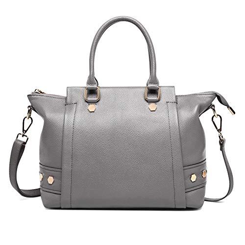 Casual lederen handtas, klinknagel grote capaciteit cross-body tas, modieuze dames rugzak, geschikt voor werk en winkelen
