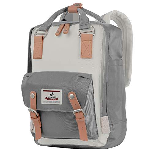 vicnunu Backpack 14' Waterproof Laptop Backpack for College & Student 15' Vintage Travel Backpacks for Women & Men(DLB-5)