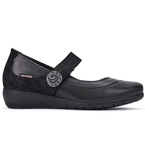 Mephisto - Zapato Mobils Jessy negro con plantar - Jessy P5132319 - Talla