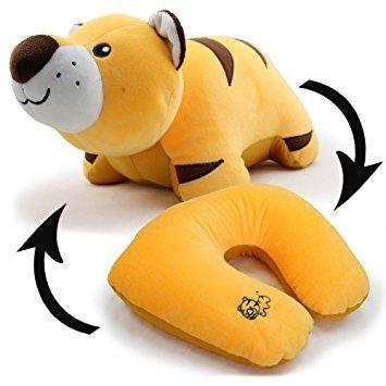 bebe cocoon Tier weiche Spielzeug veränderbare Plüsch U-Kissen Hals Reisekissen (Tiger)