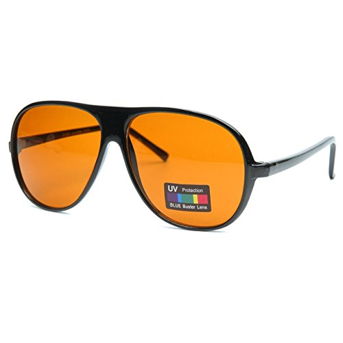 KISS Gafas de sol BLUE BLOCKER Cult Movie mod. BLOW - Lentes ámbar unisex con filtro de luz azul - NEGRO V1