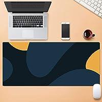 より大きい拡張 ゲーミングマウスパット,パターン じゃない-スリップベース デスクマット,デスクパッド コンピュータキーボードマウスマット 仕事用 ゲーミング オフィス ホーム-F 100x50cm(39.4x19.7inch)