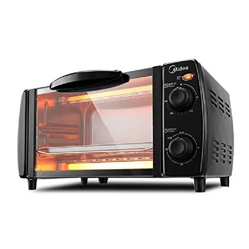 GALIMAXIA Elektro-Ofen Multifunktions-Haushalt-elektrische Backe Temperaturregelung Mini 10L (Color : Black)