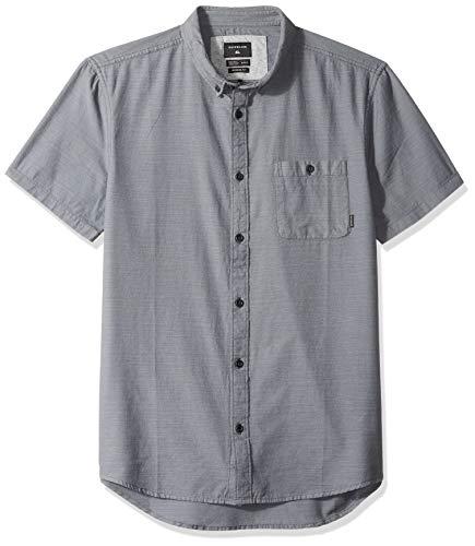 Quiksilver Herren Waterfalls Short Sleeve Button Down Hemd, Leiser Lampenschirm, Mittel