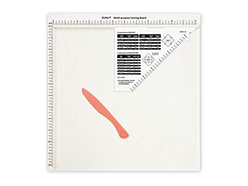 Bira 12 X 12 inch Multi-Purpose Scoring Board with Envelope Maker and Scoring Kinfe(inch Measurement), Craft Scorer, Envelope Tool, Envelope Box Maker.