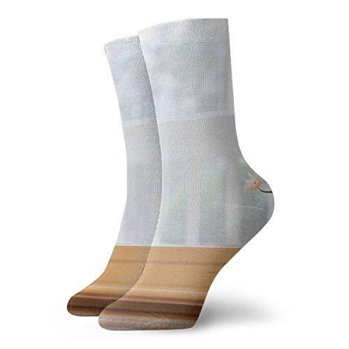 BJAMAJ Unisex Sokken Bloemen Op De Vensterbank Interessante Polyester Crew Sokken Volwassen Sokken Katoen