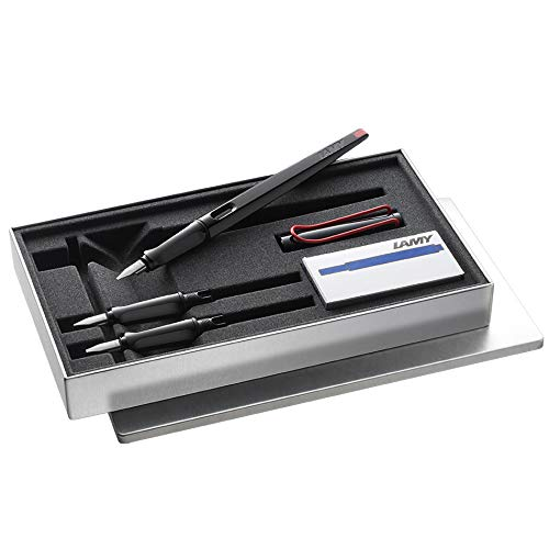Lamy Joy Calligraphy Black Fountain Pen Red Clip Set, 015set by Lamy