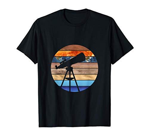 Fernrohr Weltall Planeten Sonnensystem Teleskop Astronomie T-Shirt