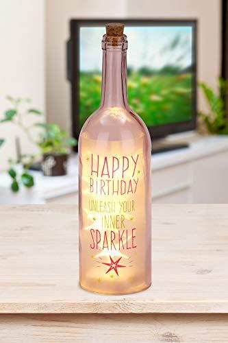 BRUBAKER Lichterflasche mit Aufdruck