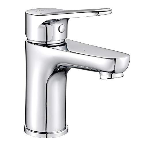 Musurjoy - Grifo mezclador monomando para lavabo (agua fría y caliente)