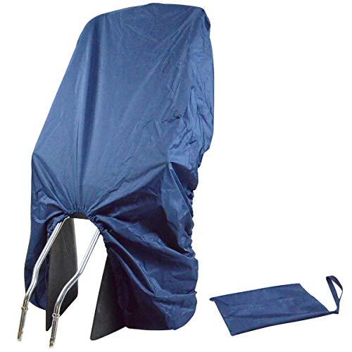TROCKOLINO Regenschutz - wasserdichte Abdeckung für Fahrradkindersitz - Kindersitz Fahrrad hinten - gegen Schmutz und Nässe, dunkelblau