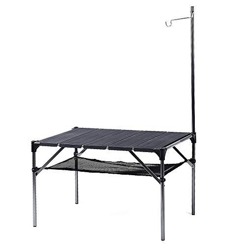 Soomloom 折り畳み式テーブル アルミ製 アウトドア用 キャンプ用 超軽量材質 無限拡大可能 エクササイズ 収納ケース付き 本体にライトかけ付き (テーブル本体)