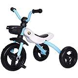Triciclo Trike Triciclo de bebé triciclo, balance de bebé Bicicleta plegable 2 en 1 niño pequeño carrito bolsa ligera plegable montando en juguetes edades de 2 a 4 años de edad niña ( Color : Blue )