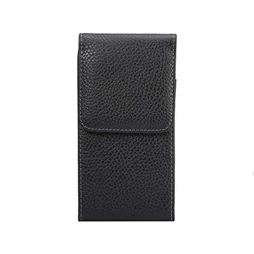 Schutzhülle für LG V35 / ThinQ / G8 / ThinQ/Huawei P20 / XR/BLU/ViVo 5 / Samsung Galaxy S9 (passend für eine dünne Hülle), L (Fits Phone 155-160mm), schwarz