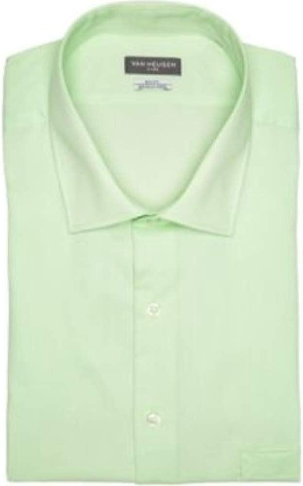 Van Heusen Men's Size Big Dress Shirts Tall Fit Flex Solid, Teak, 20