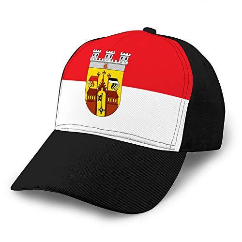 dsgdfhfgjghcdvdf Verstellbarer Hut Baseball Flat Bottom Cap Flagge von Herford in Nordrhein Westfalen Deutschland Snapback Cap