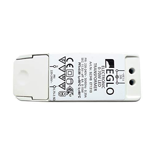 EGLO Trafo, Halogen-LED-Trafo, Transformator für LED: 0-40 Watt, Halogen: 0-70 Watt, Treiber dimmbar