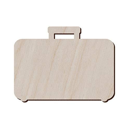 Set di 10 valigie in legno per artigianato e decorazioni, a forma di valigia, orecchini da valigia, collana da, 12.7x9.4 cm