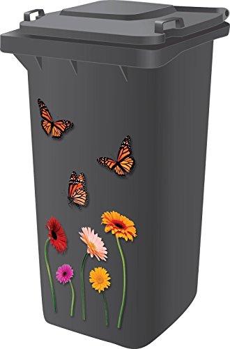 Dabmoo Aufkleber, hochwertiges Design, Vinyl, selbstklebend, für Mülltonnen / Wohnwagen / Kühlschränke / Haushaltsartikel