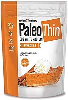 Julian Bakery® Paleo Thin® Protein Powder   Pumpkin Pie   21g Egg White Protein   4 Net Carbs   1.86 LBS   30 Servings