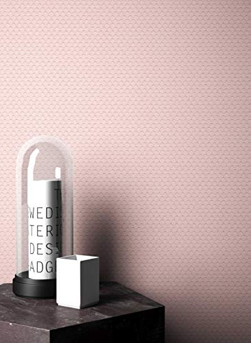 NEWROOM Blumentapete Tapete rosa Unifarbe Grafisch Uni Vliestapete lila Vlies moderne Design Optik Tapete Einfarbig Unifarben Modern inkl. Tapezier Ratgeber