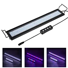 🐠【Ultra Bright Led Light】this aquarium led light is DC12V/14W, 5730 large leds, super bright, makes the aquarium water look more sparkly clean.Suggest for fish tank 18 inch to 24 inch in width, support low-to-mid light level plant growth. Input: AC10...