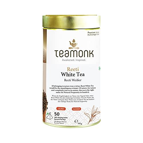 Teamonk Reeti Premium Bolsas De Té Blanco Del Himalaya - 50...