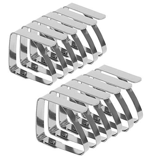 Emwel Tischdeckenklammer - 12 STÜCK Tischtuchklammer Tischtuch Klammer Edelstahl Tischklammern Tischdeckenklemmen Tischdeckenhalter Tischdeckenhalter (7 cm x 8 cm) für Dicke 3-5 cm