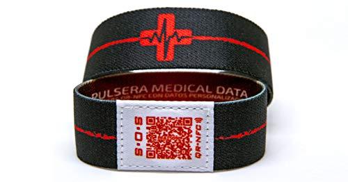 Fast Athletics Pulsera Deportiva Contactless QR Medical Data (Mediana)