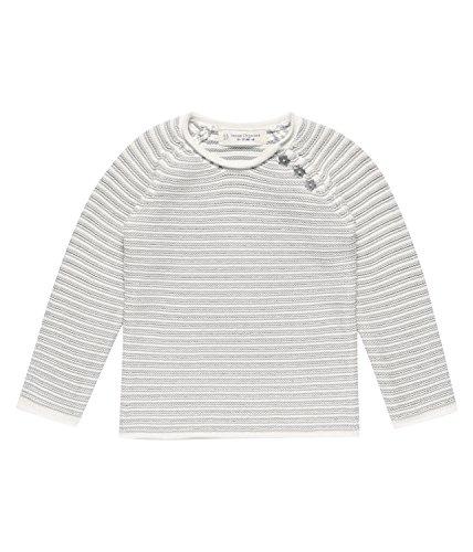 Sense Organics Victor Baby Strickpullover, Pull Mixte BB, Grau (Grey Melange Stripes 990000), 68 cm (Taille du Fabricant: 3M)