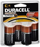 Duracell - CopperTop C Alkaline Batteries with recloseable Package - Long Lasting, All-Purpose C Battery for Household and Business - 4 Count (Pack of 18)
