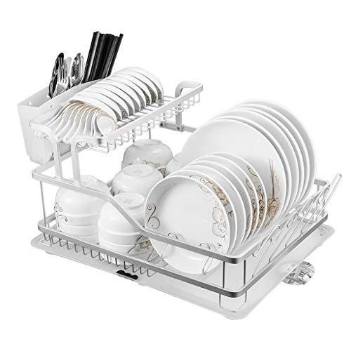 Étagère Peaceip Espace Environnemental Racks en Aluminium Cuisine Vaisselle Égouttoir Rack 1 Layer Plaque Suspendue Rack Vaisselle Rack De Stockage