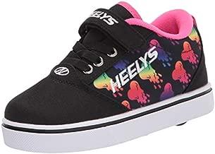 Heelys girls Wheeled Footwear Skate Shoe, Black/Rainbow, 2 Big Kid US