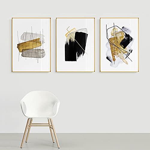 Lienzo moderno y colorido, para pared, diseño abstracto y nórdico, 3 unidades, 50 x 70 cm, sin marco