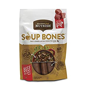 Rachael Ray Nutrish Soup Bones Dog Treats, Beef & Barley Flavor, 11 Bones