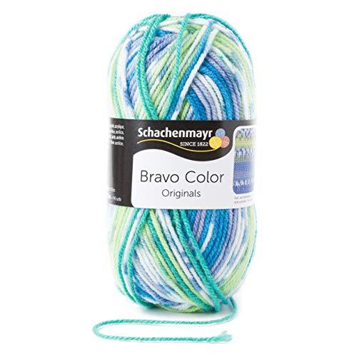 Schachenmayr Handstrickgarne Bravo Color, 50g Aqua Jacquard