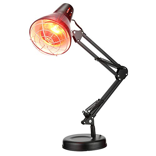 RZH Infrarot Physiotherapie Lampe LED Hautpflege Stehleuchte Infrarotlampe 220V/110V Eisen Tischlampen Hyperthermie Lichter Zur Linderung Von Schmerzen,Schwarz