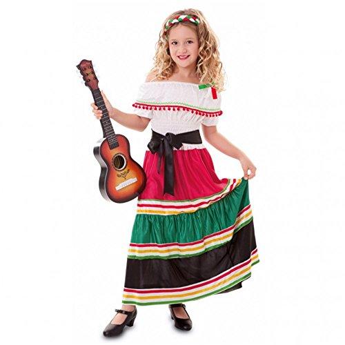 Fyasa 706476-T02 - Disfraz de niña mexicana de 7 a 9 años, multicolor, mediano