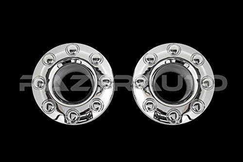 Razer Auto Chrome 8 Lug Front Wheel Center Hub Cap 1 Pair for 05-17 Ford Super...