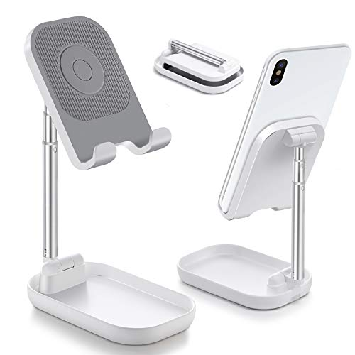 Cell Phone Stand, Tablet Stand Adjustable Angle Height Phone Stand for Desk, Cell Phone Holder for Desk Compatible with iPhone 12 pro 11 8 7 X XR XS/ipad/Galaxy Samsung,Switch,iPad,Tablet(4-12in)