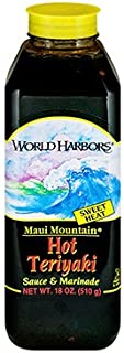 World Harbors Sauce Maui Mountain Hot Teriyaki, 16 oz