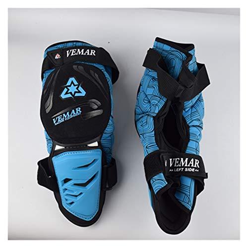 XXY Motocicleta Rodilleras Protección De Motocicleta Armadura Flexible Rodillera Guardia Baskball Unisex Off Road MTB DH Joelheira Motocross para el Ciclismo (Color : Blue)