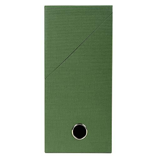 Exacompta - Réf. 89423E - 1 Boîte transfert en papier toilé - Dos 120 mm - Avec un œillet en métal - Pour format A4 - Dimensions 25,5 x 34 x 12 cm - Couleur vert - Livrée montée